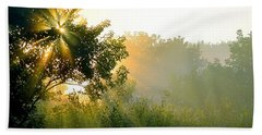 Rise And Shine Beach Towel by Sue Stefanowicz
