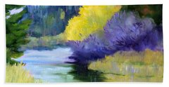 River Color Beach Sheet by Nancy Merkle