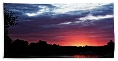 Beach Towel featuring the photograph River Glow by Dave Files