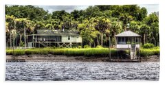 River House On Wimbee Creek Beach Towel