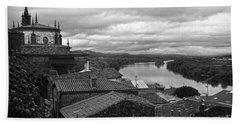River Mino And Portugal From Tui Bw Beach Towel