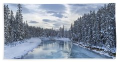 River Of Ice Beach Towel