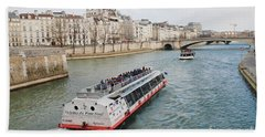 River Seine Excursion Boats Beach Towel