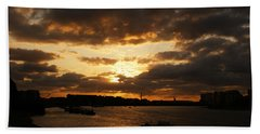 River Thames From Greenwich Beach Towel