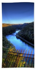 Beach Towel featuring the photograph River Through A Valley by Jonny D