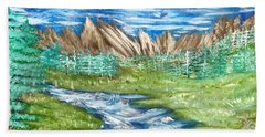 River Valley Beach Towel