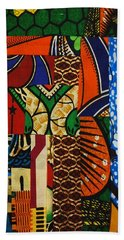 Beach Sheet featuring the tapestry - textile Riverbank by Apanaki Temitayo M