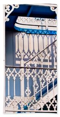 Riverboat Railings Beach Towel