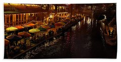 Riverwalk Night Beach Towel