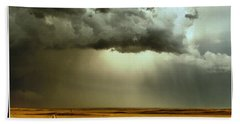 Road Into The Storm Beach Towel