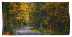 Road To Cave Point Beach Towel