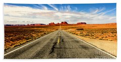 Road To Navajo Beach Towel by Jason Abando
