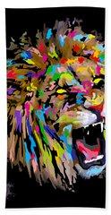 Beach Towel featuring the digital art Roar by Anthony Mwangi