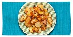 Roast Potatoes Beach Sheet by Tom Gowanlock