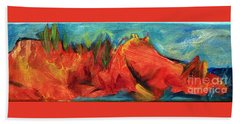 Roasted Rock Coast Beach Towel