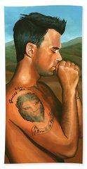 Robbie Williams 2 Beach Sheet by Paul Meijering