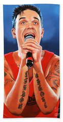 Robbie Williams Painting Beach Towel