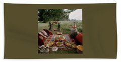 Robert Carrier's Moroccan Picnic In A Field Beach Towel