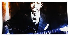 Robert Johnson - King Of The Blues Beach Towel