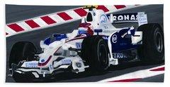 Robert Kubica Wins F1 Canadian Grand Prix 2008  Beach Towel