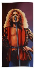 Robert Plant Of Led Zeppelin Beach Towel by Paul Meijering