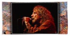 Robert Plant Art Beach Towel