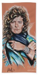 Robert Plant Beach Towel by Melanie D