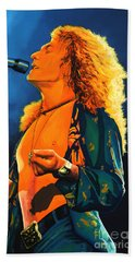 Robert Plant Beach Towel by Paul Meijering