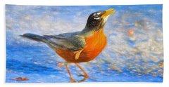 Robin In Florida Beach Sheet