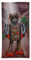 Robots With Attitudes  Beach Towel