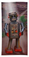 Robots With Attitudes  Beach Towel
