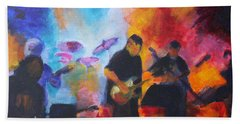 Rock And Roll Beach Towel