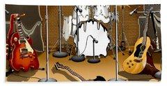 Rock And Roll Meltdown Beach Sheet by Mike McGlothlen