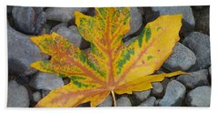 Beach Towel featuring the photograph Rock Creek Leaf by Chalet Roome-Rigdon