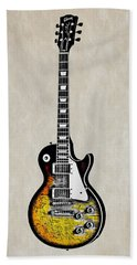 Rock Guitar Beach Towel