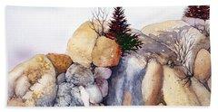 Rock Patterns Turnagain Beach Towel by Teresa Ascone