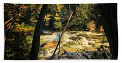 Rock Slide Beach Towel by Robert McCubbin