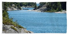 Rocks And Water Paradise Beach Towel