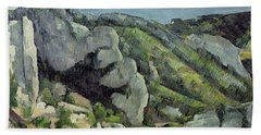 Rocks At Lestaque, 1879-82 Oil On Canvas Beach Towel