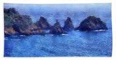Rocks On Isle Of Guernsey Beach Towel
