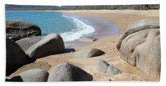 Rocks On The Beach Beach Sheet