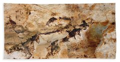 Rockscape 3 Beach Towel by Linda Bailey