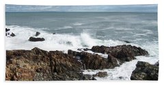 Rocky Coast Beach Sheet by Catherine Gagne