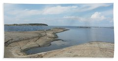 Rocky Coastline In Hamina Beach Towel
