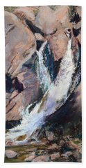 Rocky Mountain Cascade Beach Towel