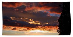 Rocky Mountain Sunset Beach Towel