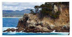 Rocky Outcropping At Point Lobos Beach Towel