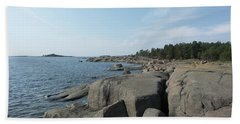 Rocky Seashore 2 In Hamina  Beach Towel