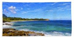 Rocky Shore Near Poipu Beach Sheet