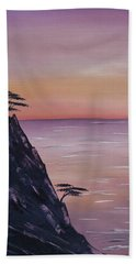 Rocky Sunset Beach Towel